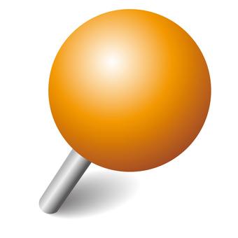 Push pin orange