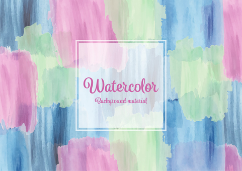 Hand-painted watercolor background material wallpaper