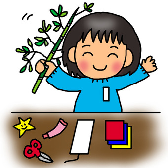 Let's make Tanabata decoration
