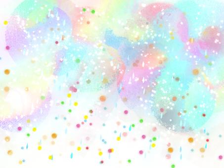 Rainbow-colored rain 3