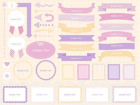 Pastel frame set