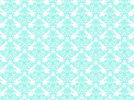 Damask patterned mint