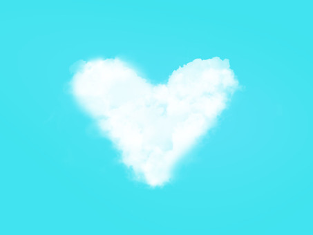 Heart cloud background 2