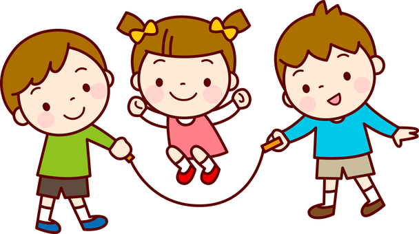 Children making a jogging