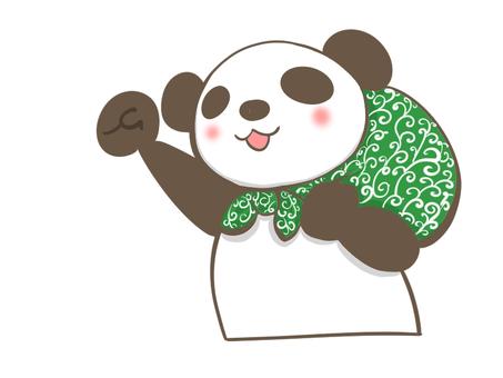 Panda raising a fist