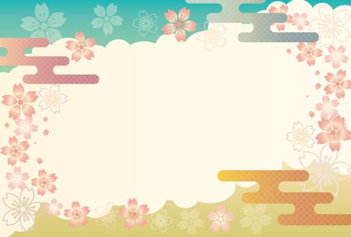 Japanese Pattern Sakura Frame