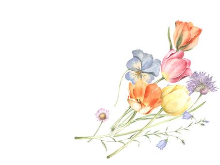 Flower frame 392 - Cute flower bouquet