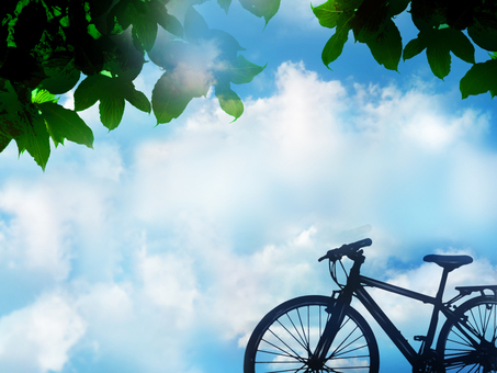Bicycle in shade
