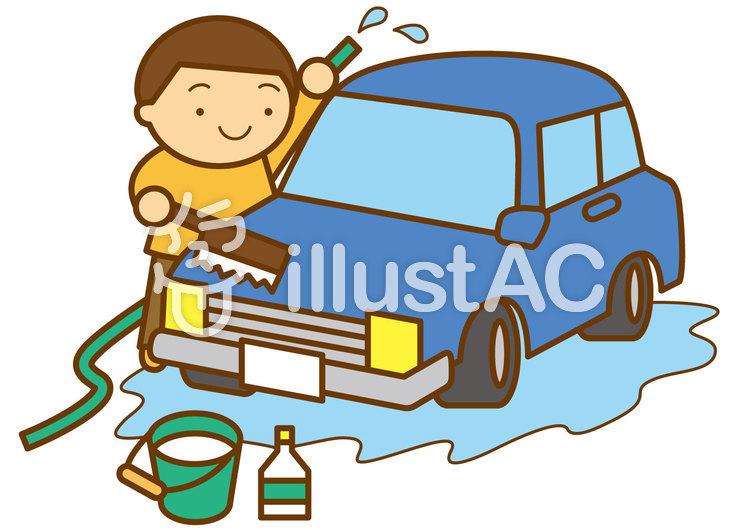 洗車4cのイラスト