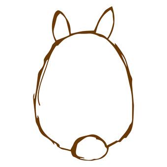 Usagi's buttocks 2