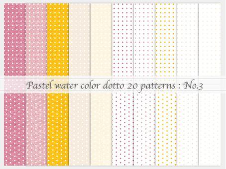 Watercolor style simple pattern (dot_03)