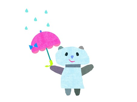 Panda with umbrella