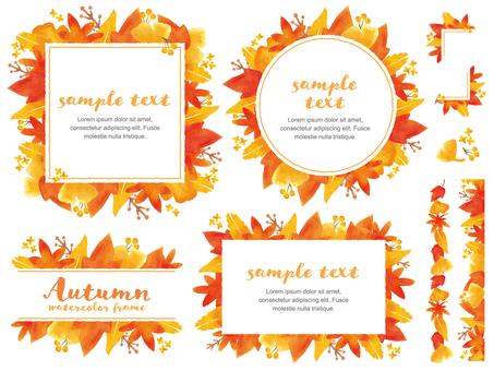 秋 紅葉のフレームセット