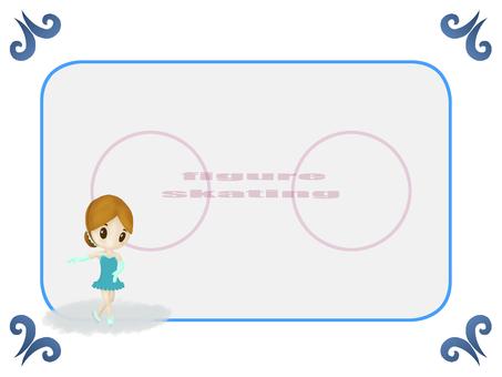 피겨 여자 (스케이트 링크 포함)