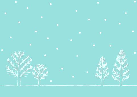 Snow scene light blue color