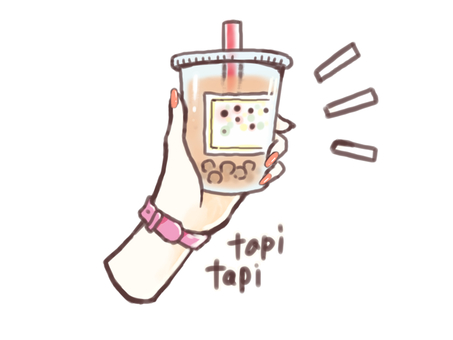Female hand with tapioca drink