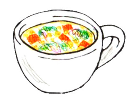 Cup 2 vegetable soup