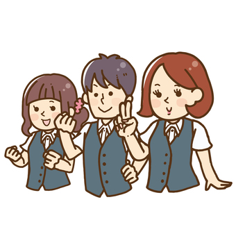 Illustration of 3 boys and girls.