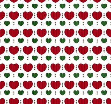 Scandinavian style pattern heart 01 / red