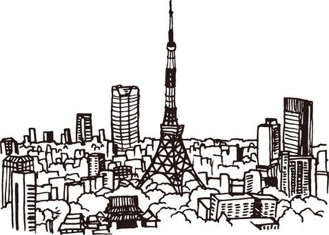 Landscape (Tokyo Tower · Sketch)