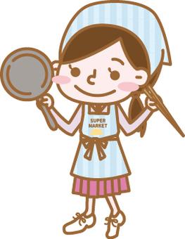 Working women series [supermarket]
