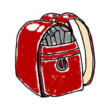Red school bag