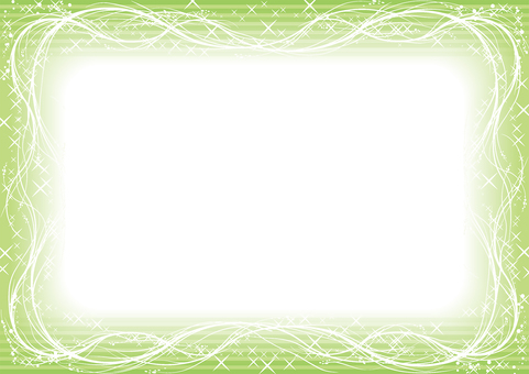 Green sparkling frame