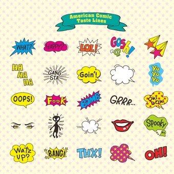 Various speech bubbles