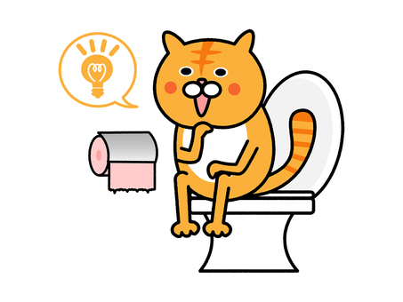 貓的靈感來自廁所