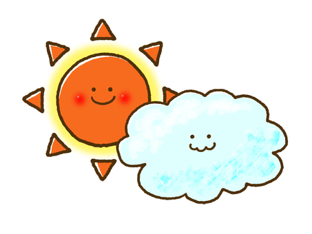 (Weather) Cloudy and sometimes sunny