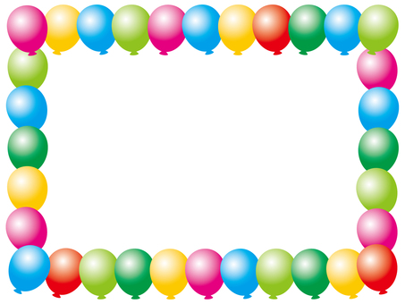 Colorful balloon frame 2