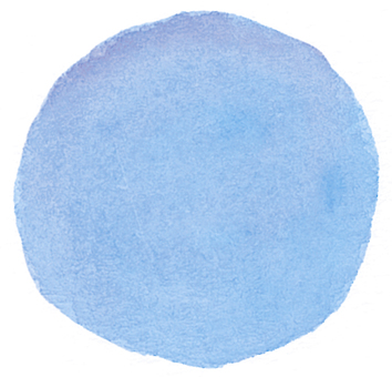Water color blue circle