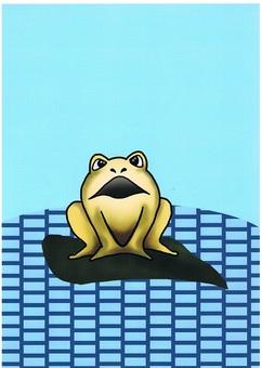 青蛙在水面上
