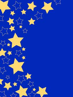 Star frame 03 / blue