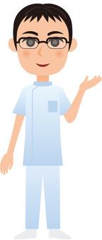 Working male - nurse_information_ whole body