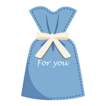 Wrapping bag (blue)