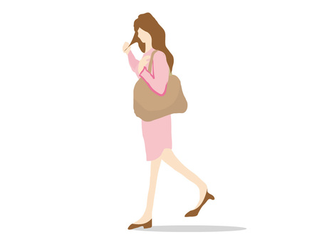 Women walking at work