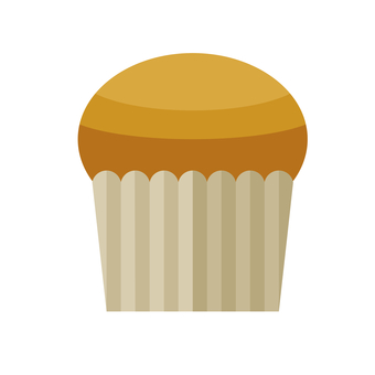 Illustration of a simple muffin