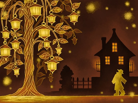 램프의 나무와 거리