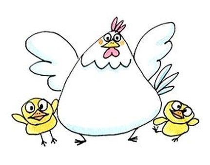 부모와 자식 닭