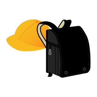 School hat and men's school bag