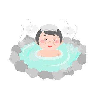 Grandma · hot spring