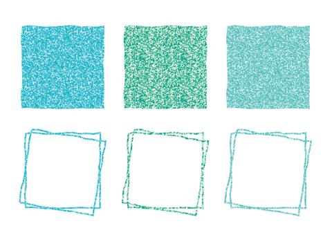 Square frame (mint color)