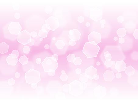 Hexagonal light · thin peach