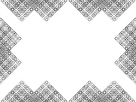 Fine rhombus 4 (monochrome frame)