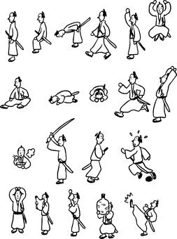 Samurai Various poses collection
