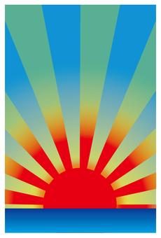 New Year's cards Sunrise
