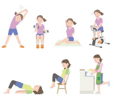 Stretch yoga illustration