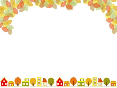 Autumn residential area frame