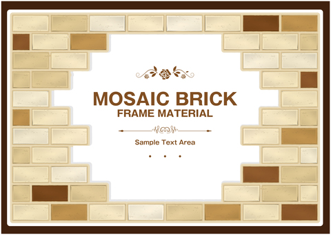 Brown brick frame